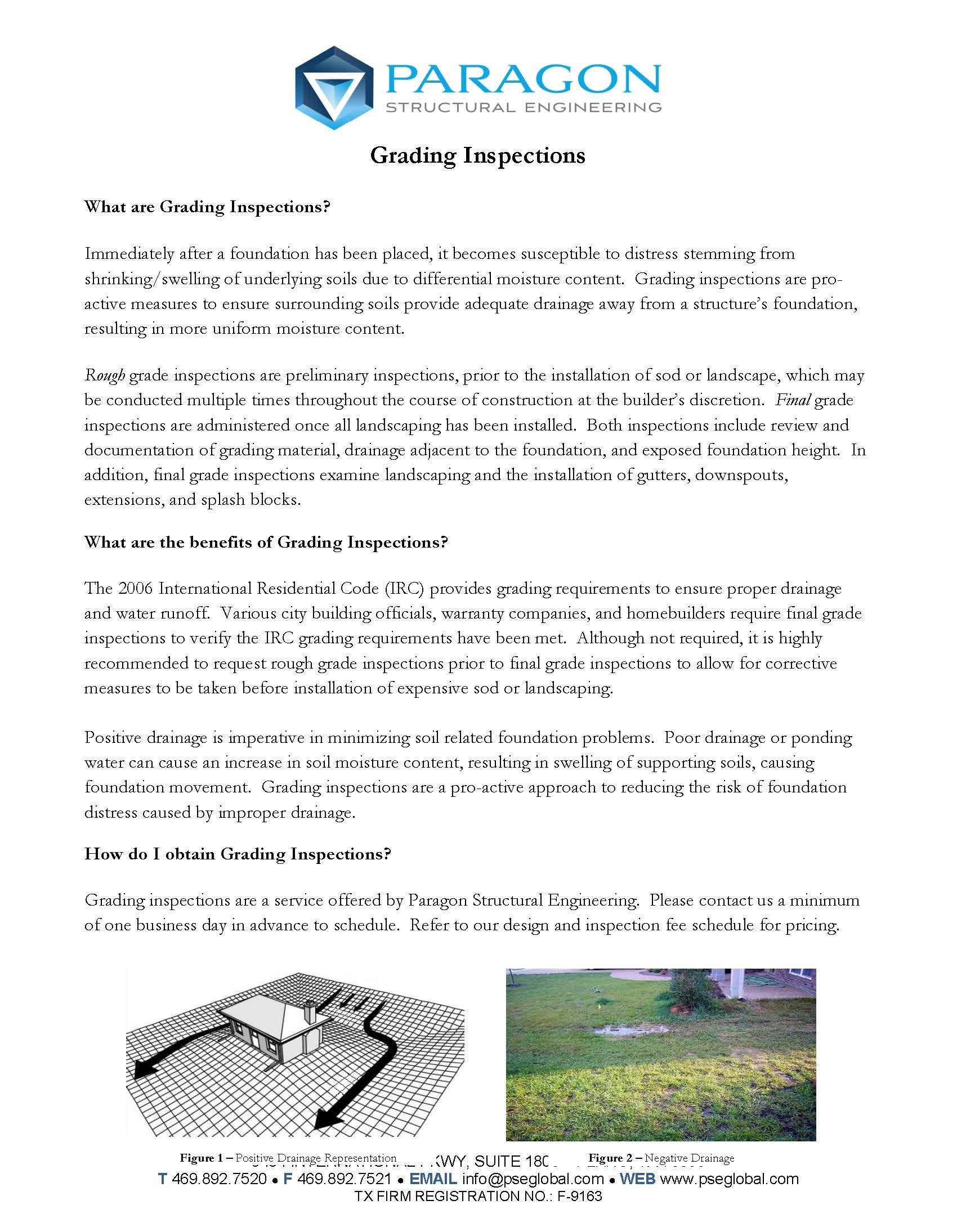 grading inspections brochure